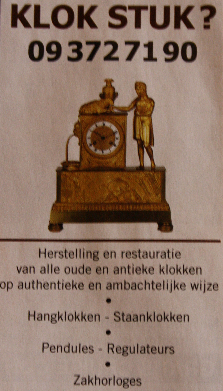 advertentie - antieke klok stuk